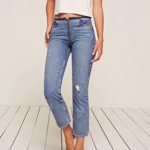 Reformation Zipper Jean
